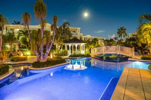 Pool at Royal West indies Resort, Turks and Caicos