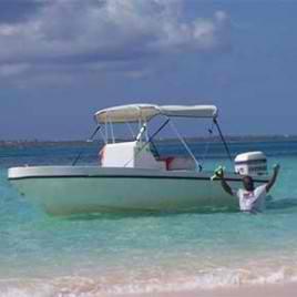 Salt Cay Beach boat