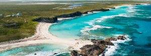 Mudjin Harbor Aerial view, Turks and Caicos