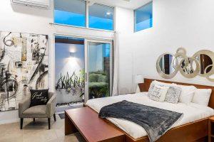 white villas bedroom