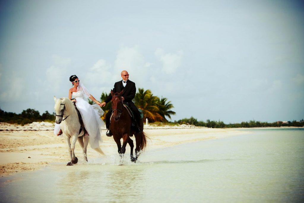 Adventure Weddings in Turks and Caicos, Horseback Riding.