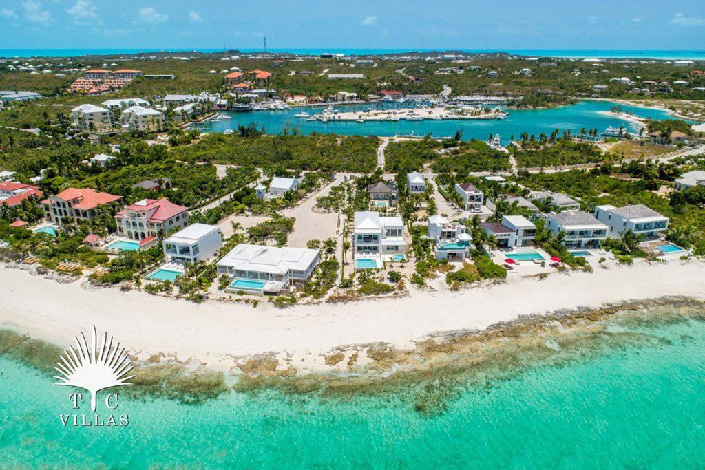 Aerial Sandstone, Grace Bay Beach, Luxury Villa