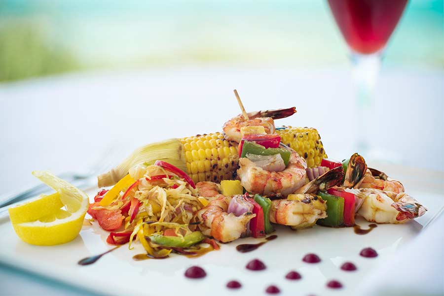 Local Food Dune Restaurant - Windsong resort - Turks and Caicos