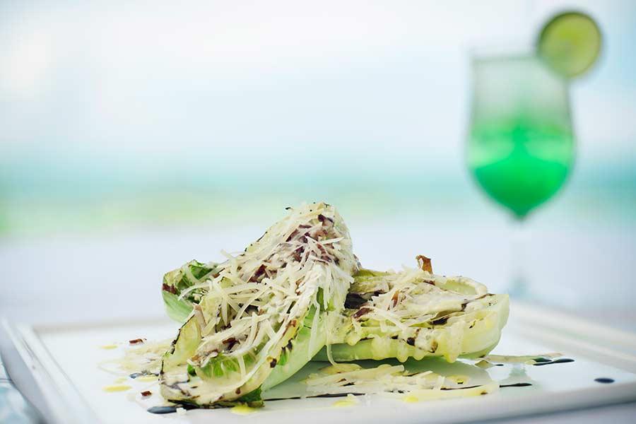 Ceasar Salad - Dune Restaurant - Windsong resort - Turks and Caicos