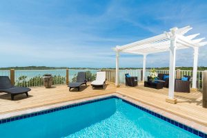 Pool and view French Cat Villa Rentals Turks and Caicos