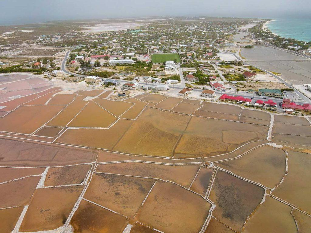 Salt Cay Turks and Caicos - Aerial View